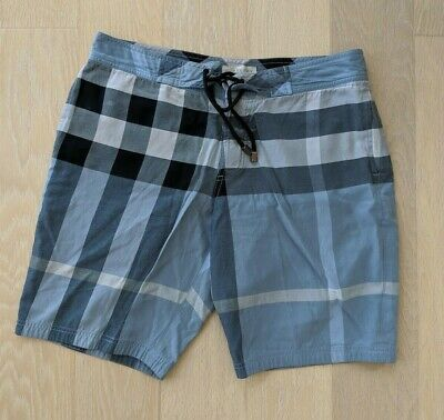 04460d46fc MENS BURBERRY BRIT Red Nova Check Swim Trunks Shorts Medium M ...