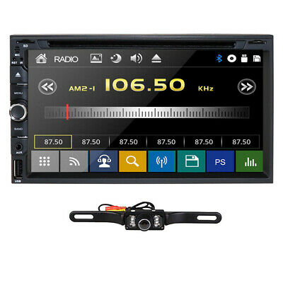 "2019 Sony Lens Double 2Din 7""Car Stereo Radio DVD Player In Dash BT MP3+CAMERA"