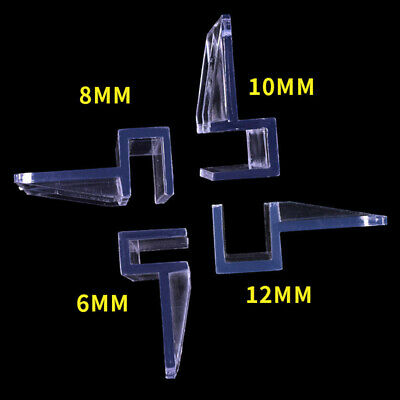 6-12mm Glass Cover Support Holders 4 PCS Aquarium Fish Tank Glass Acrylic Clips