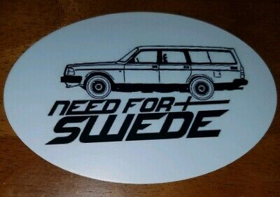 1996-2000 NEED FOR SWEDE sticker For Volvo V70 1st gen T5R w// rails