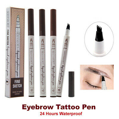 Eyebrow Tattoo Pencil Waterproof Fork Tip Patented Microblading Ink Sketch
