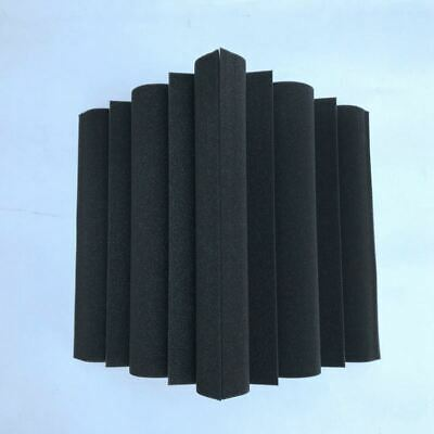 4 pcs Corner Bass Trap Acoustic Panel Studio Sound Absorption Foam 12*12*24cm 1I