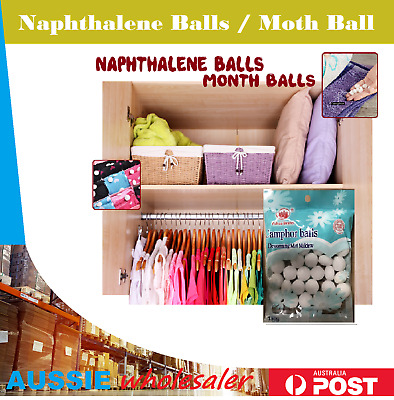 Au 1-3pack Naphthalene Balls White Cupboards Cloth Camphor Moth Balls