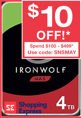 "Seagate NAS Hard Drive HDD IronWolf 4TB 3.5"" SATA Internal 5900RPM ST4000VN008"