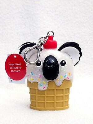 1 Bath & Body Works KOALA ICE CREAM Pocketbac Hand Sanitize Holder CHERRY ON TOP