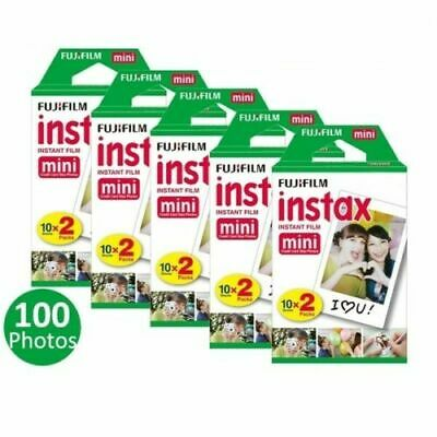 5x20 Packs Fujifilm Instax Mini Film,100 Fuji instant photos 7s 8 50s 90 SP-1 30