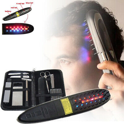 Hair Laser Comb Loss Brush Regrow Grow Treatment Growth Therapy Massage Kit