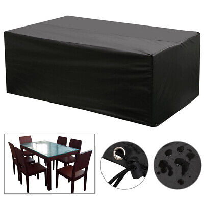 Waterproof  Garden Furniture Covers Rectangle Rattan Cover Barbecue BBQ Cover
