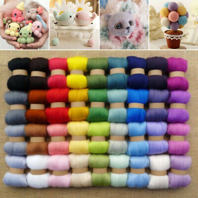 AU Colourful DIY Wool Needles Felt Tool Set+Needle Felting Mat Starter Craft Kit