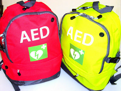Defib/AED Emergency Carry Bag Rucksack In Lime Green Or Red