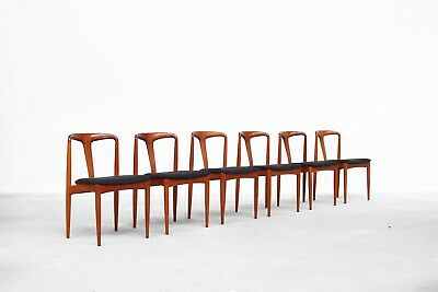 5 Teak Dinning chairs by Johannes Andersen danish design1960s