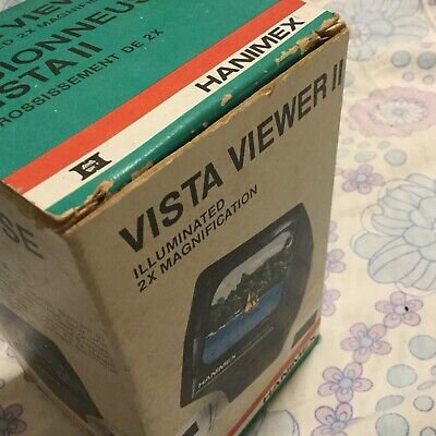 Hanimex Vista-Viewer II 2 Slide Viewer In Original Packaging