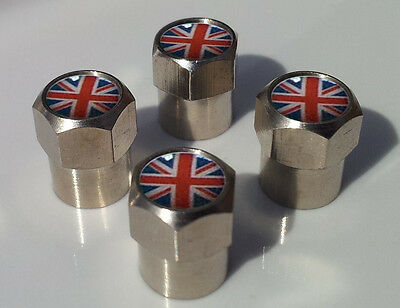 Union Jack Great Briton Flag Aluminium Tyre Valve Caps Alloy For Car Tire Wheel