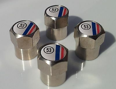 Herbie 53 Beetle Alluminium Tyre Valve Caps For Tire Wheel