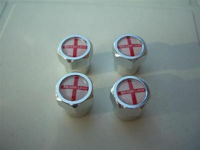 England St George Cross Football Car Tyre Valve Caps New
