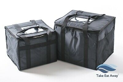 2 x Delivery Bags Hot/Cold TakeAway Restaurant Food/Drink Deliveries Bag T16/17