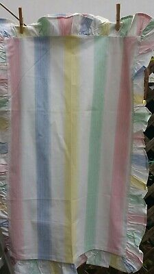 gorgeous Pair of white & candy colours frilled vintage pillowcases unused