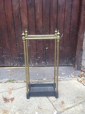 Victorian Brass and Cast Iron Stick/Umbrella Stand