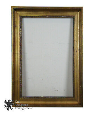 "Victorian Style Antiqued Wood Art Picture Frame 21"" x 29"" Gold Over Red"