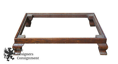 Antique Chinese Ming Style Asian Wooden Base Stand For Knockdown Armoire Dresser