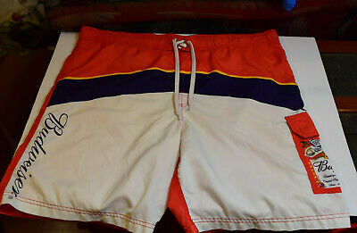 c257f35961930 BUDWEISER Board Shorts King Of Beers Classic Beer Label Mens Swim Trunks XL