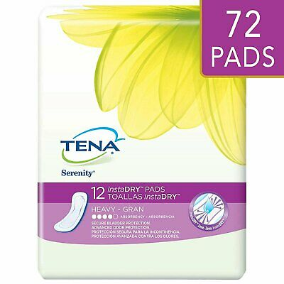 Tena Incontinence Pads For Women, Instadry Heavy, Regular, 72 Count