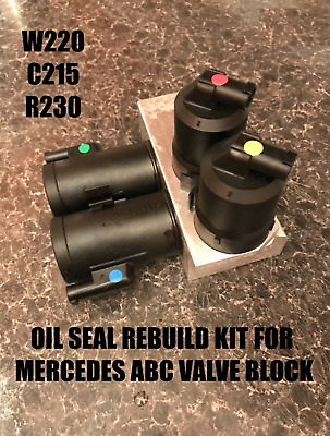 Mercedes Benz ABC Hydraulic Valve Block Solenoid VITON SEAL REBUILD KIT