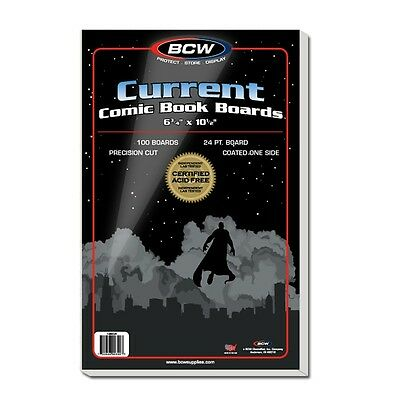 Current Age Comic Boards x 100 pack
