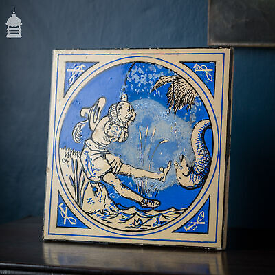 Minton, Hollins & Co Blue Glazed Tile