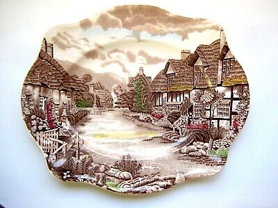 "Olde English Countryside A Johnson Brothers 12"" Oval Plate"