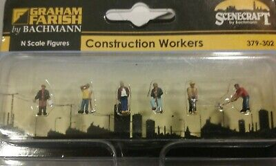 Construction Workers Graham Farish By Bachmann 379-302 N Scale.