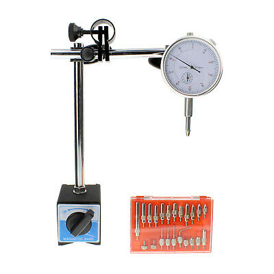 ABN | Dial Indicator with Magnetic Base and 22 Pc Indicator Point Set