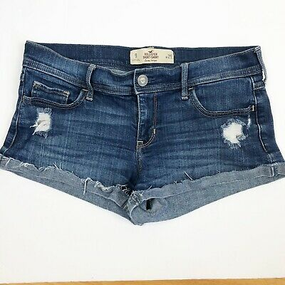 Shorts Helpful Hollister Womens Distressed Bermuda Style Denim Jean Shorts Size 9 W29