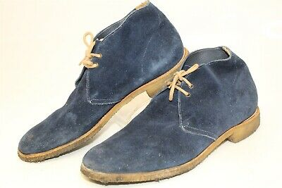 10d2f4b05b0 CHURCH'S CUSTOM GRADE Sahara Mens UK 10 US 11 Blue Suede Ankle Lace Up Boots