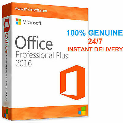 Microsoft Office 2016 Profession Plus 32/64 bit Genuine License Key for 1 PC