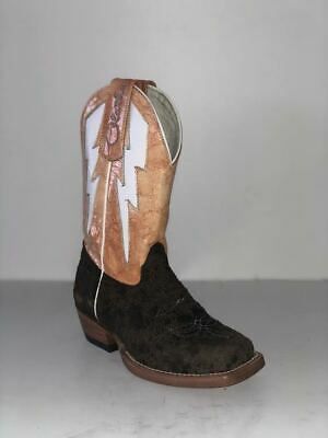 Olathe Western Boots Boys Leather Cowboy Kids Pictures Brown OK27
