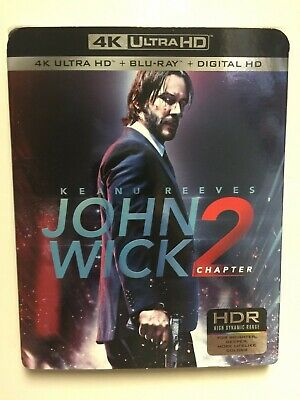John Wick Chapter 2 (4k UHD Blu-ray/Blu-ray, Digital HD) NEW w/slipcover