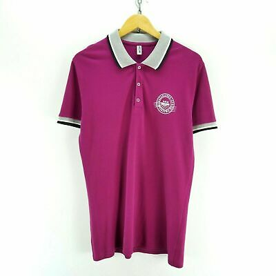 Moschino Men's Polo Shirt in Purple Size L Short Sleeve Cotton Top EF4920