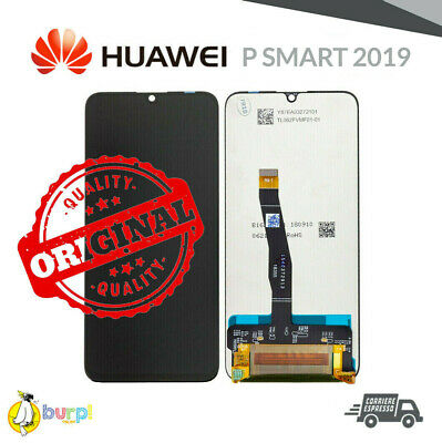 Display Lcd + Touch Screen Vetro Per Huawei P Smart 2019 Nero Black Schermo Aaa+