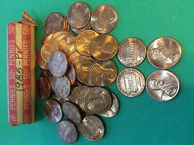 1985-P  Bu Roll Of Lincoln Memorial Cents (50) Coins