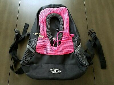 Dabin Small Dog Carrier/Tote - Pink & Black Front Pack / Backpack - used once