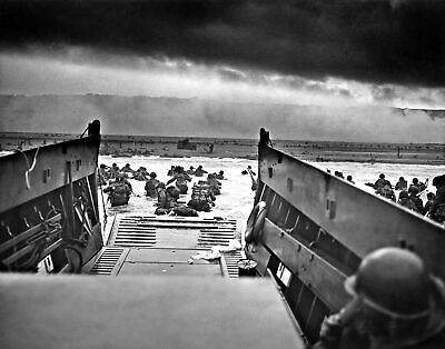 WWII Into Jaws of Death D-Day Landing. Photo Repro. Made in U.S.A Giclee Prints