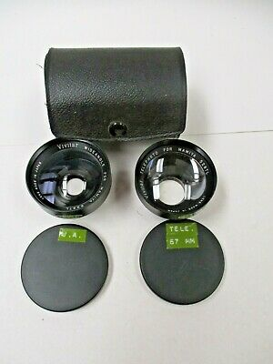 Vivitar wide angle and telephoto lens set for Mamiya 528TLcamera. With case