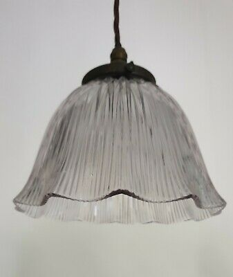 Holophane Ceiling Light, Rewired