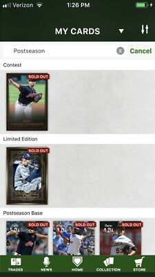 2018 Topps Bunt • POSTSEASON Lot • YOU PICK 9 Digital Cards