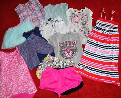 58bf7516d6a6 Huge Lot Summer Clothes Justice Shorts Tops Dresses Outfits Girls Size 7/8  10/