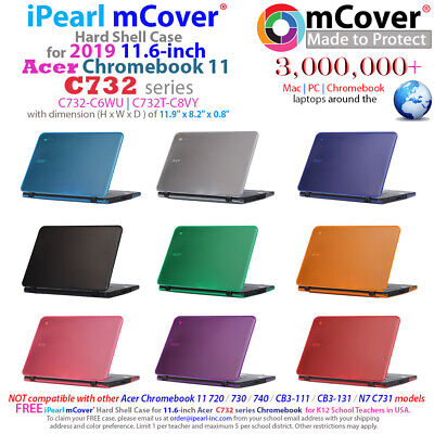 """NEW mCover® Hard Shell Case for 2019 11.6"""" Acer Chromebook 11 C732 series Laptop"""