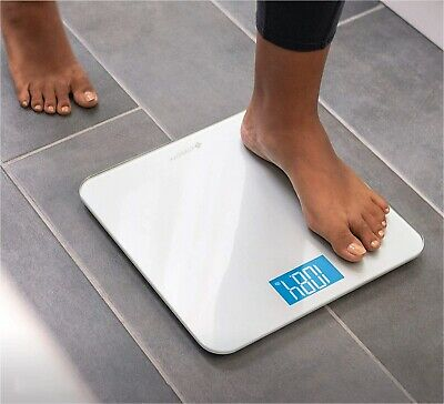 LCD Digital Bathroom Body Weight Scale Tempered Glass Fitness 400LB 180KG