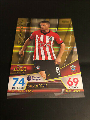 Topps Match Attax 18/19 Ultimate Steven Davis Southampton Captain