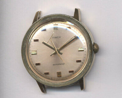 Vintage 1971 Timex Marlin Gold Toned Wind Up Watch – 26060 2471 #M43